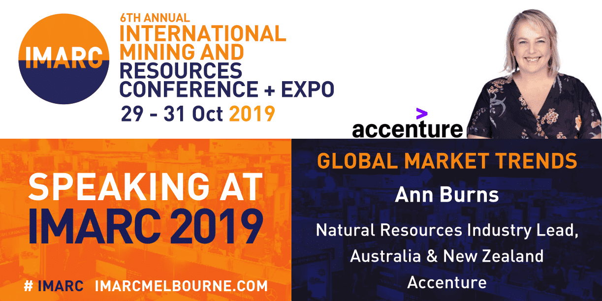 Ann Burns Accenture speaking at IMARC 2019